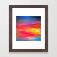 BRIGHT HORIZONS Bold Col… Framed Art Print
