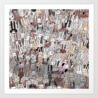BUNS BUNS BUNS Art Print