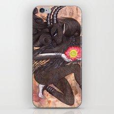 Capricorn, The Ambitious Goat: Dec 22 - Jan 20 / Original Gouache On Paper iPhone & iPod Skin