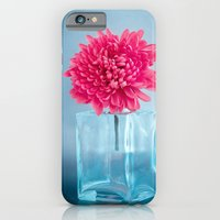 LE NOBLE - Pink flower in blue glass vase iPhone 6 Slim Case