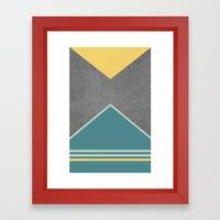 Concrete & Triangles III Framed Art Print