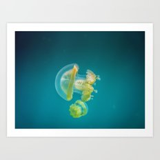 Jellyfish Dance Art Print