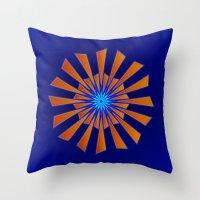 Spring Blue Throw Pillow