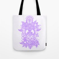 Purple Henna Tote Bag