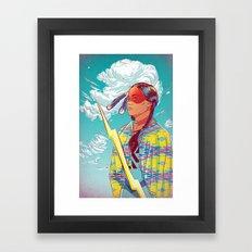 Thunder Woman Framed Art Print