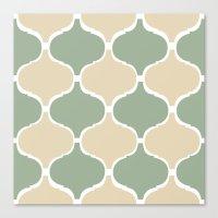 MARRAKECH Sand Green Canvas Print