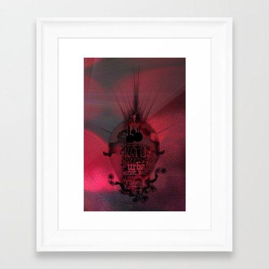 Swallowed in the sea Framed Art Print