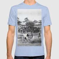 Jambo's Mambo Mens Fitted Tee Tri-Blue SMALL