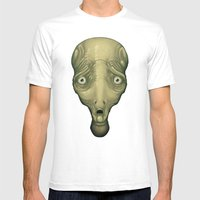 Shocked Alien Mens Fitted Tee White SMALL