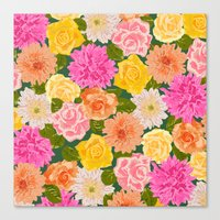 SMELL THE ROSES: -roses … Canvas Print