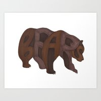 Bears Typography Art Print
