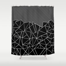 Ab Lines 45 Black Shower Curtain
