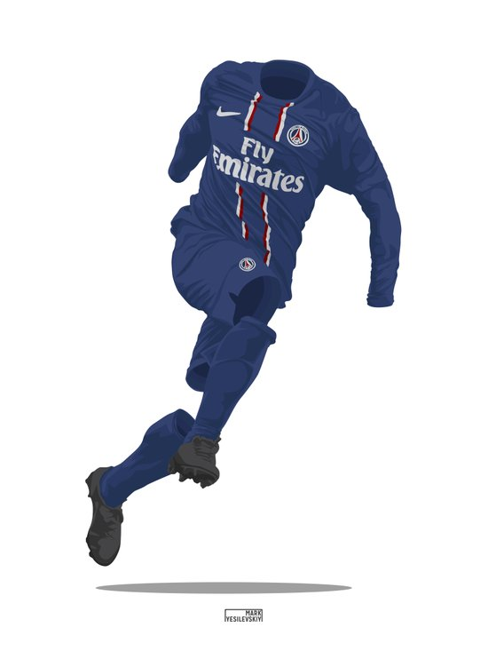 Paris St. Germain (PSG) 2012/13 Art Print