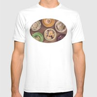 Vintage Teacups Mens Fitted Tee White SMALL