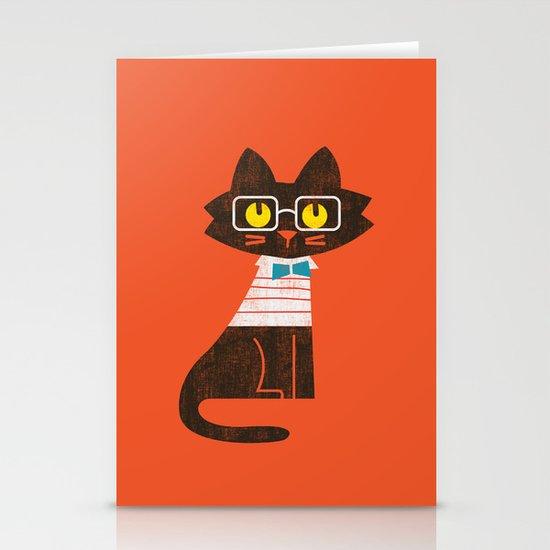 Fitz - Preppy cat Stationery Card