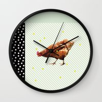 Une Poule Wall Clock