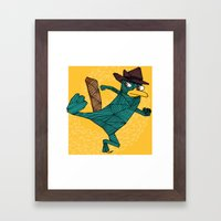 My Perry the Platypus Framed Art Print