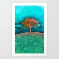 ABSTRACT - Solitary Tree Art Print