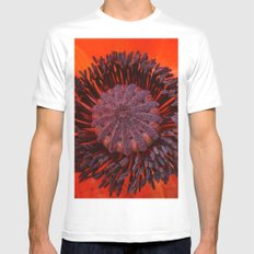 Poppy 3 Mens Fitted Tee SMALL White
