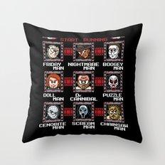 Mega Slashers Throw Pillow