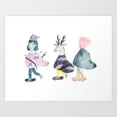 Stay Ahead of the Rat Race Art Print