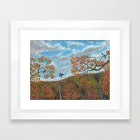 Magpie Woods Framed Art Print