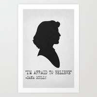 Scully Poster Art Print