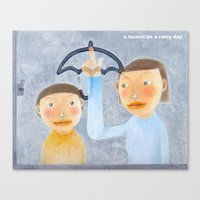 a lesson on a rainy day Canvas Print