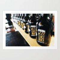 Fresh Beer Lives Here, G… Art Print