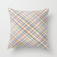 Throw Pillow featuring Rainbow Weave 45 by Project M