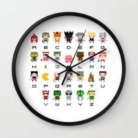 Video Games Pixel Alphab… Wall Clock