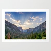 Yosemite Sunrise Art Print