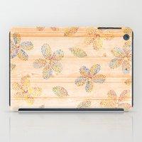 Floral stamp iPad Case