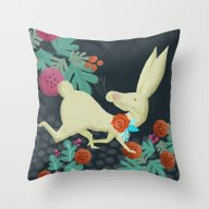 A Hare In The Forest Throw Pillow