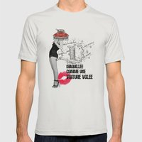 Maquillée comme une Voiture Volée Mens Fitted Tee Silver SMALL