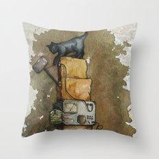 Schrödinger`s Cat Throw Pillow