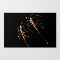 Jets of Fireworks Canvas Print
