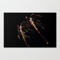 Jets Of Fireworks Canvas Print