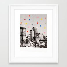 citydots Framed Art Print