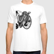 Bicycle Race Now! Mens Fitted Tee SMALL White