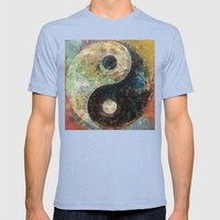 Yin And Yang Mens Fitted Tee Tri-Blue SMALL