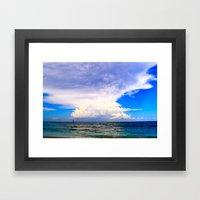 Warm Weather Skies Framed Art Print