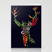 Tropical Deer Stationery Cards
