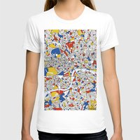 london T-shirts featuring London by Mondrian Maps