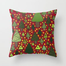 Small Trees Throw Pillow
