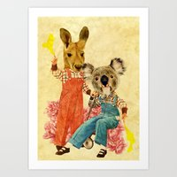 Australia Icon: The Nation Art Print