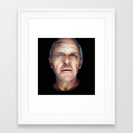 Anthony Hopkins Framed Art Print