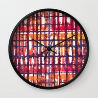 Plaid Wall Clock