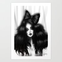 Hair bow Art Print