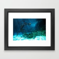 Tribal robot Dolphin :) Framed Art Print